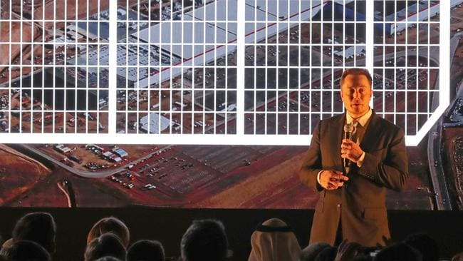 Elon Musk told a crowd in Dubai world governments should keep scientists in check. Picture: Karim Sahib