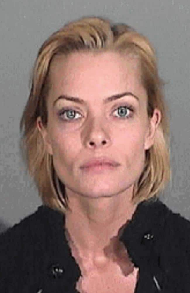 The Santa Monica Police Department's photo of Jaime Pressly who was arrested in Santa Monica, California 05/01/2011 for the investigation of driving while under the influence of alcohol.