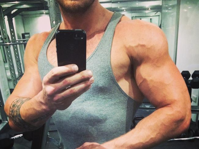 Bobby had to focus on increasing his arm size to match Hemsworth's in Thor. Picture: Bobby Holland Hanton
