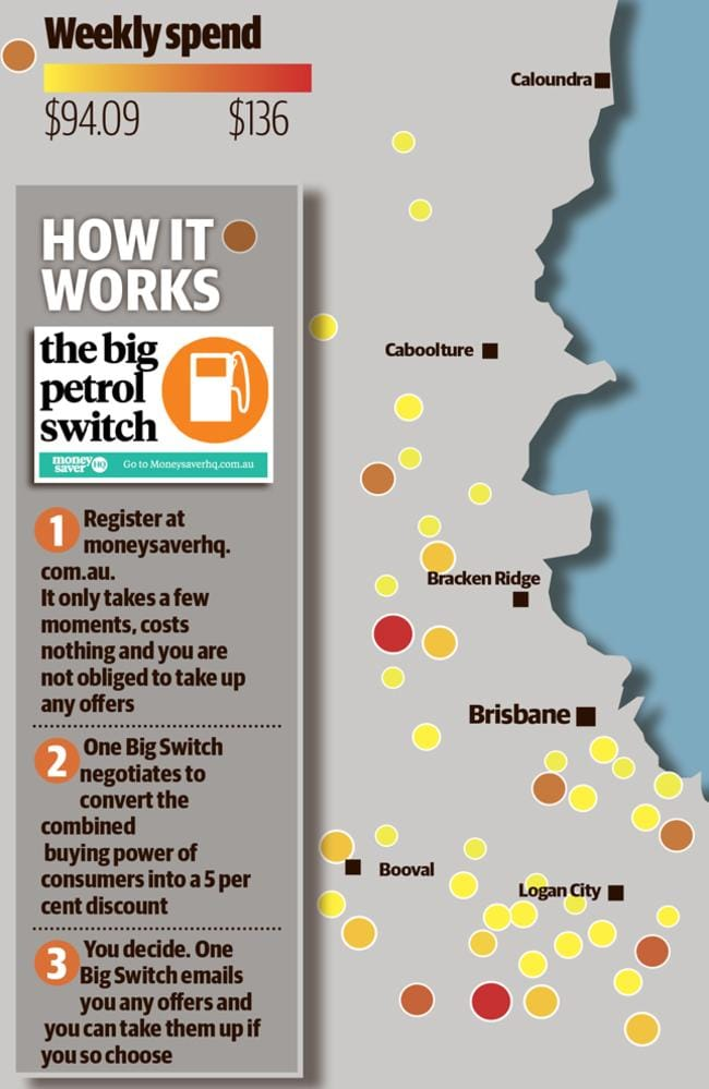 Map shows the focus of southeast Queensland's petrol pain.
