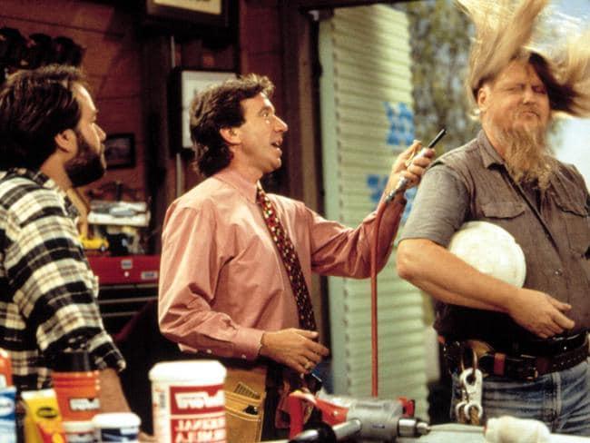 Richard Karn, Tim Allen and Mickey Jones in Home Improvement.