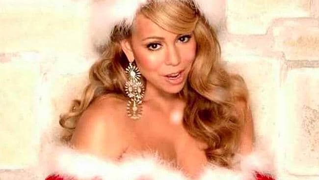 We're gonna go out on a limb and say that it probably wasn't even close to Christmas when Mariah Carey posed in ...