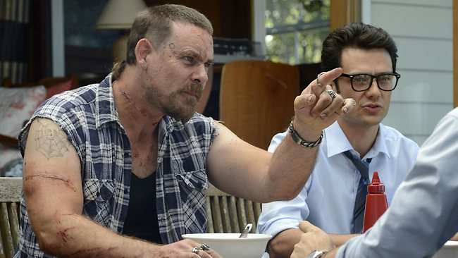 Aaron Jeffery as Frank O'Rourke in Underbelly Badness. Picture: 9 Channel