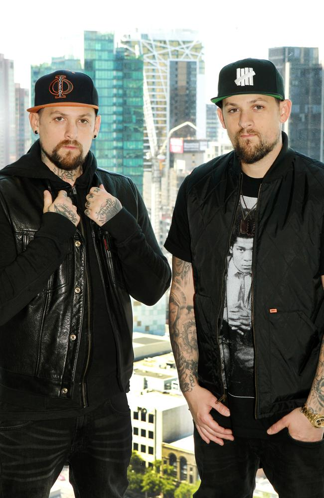 Dynamic duo ... Benji and Joel Madden will team up as one set of coaches on The Voice. Picture: Janine Eastgate