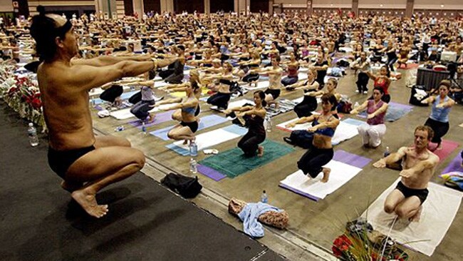 Bikram Choudhury at work