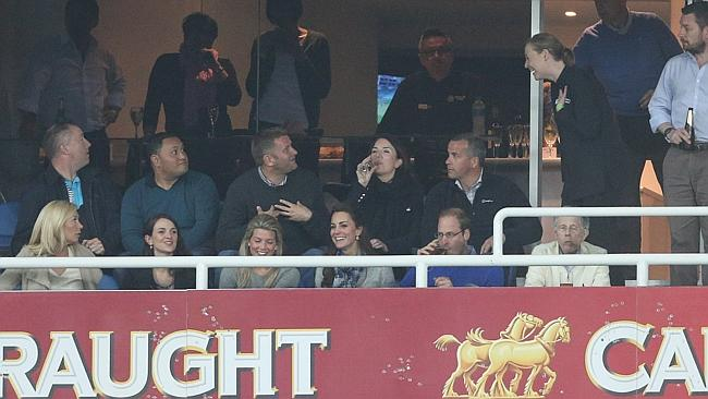 Wills and Kate enjoying all the action at Allianz Stadium. Picture: Attila Szilvasi