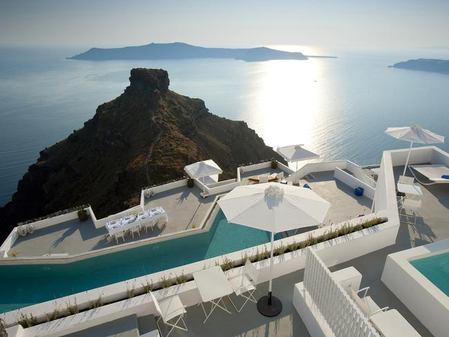 You'll feel on top of the world at the Grace Hotel, Santorini.