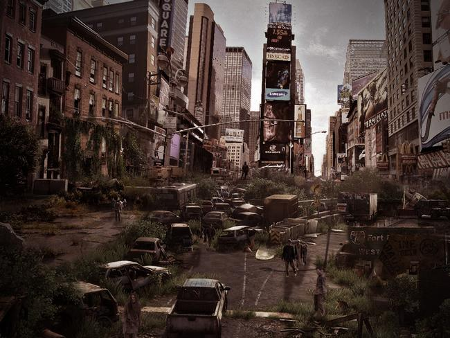 Post-apocalyptic Times Square in New York. Photo: DesignCrowd.com.au