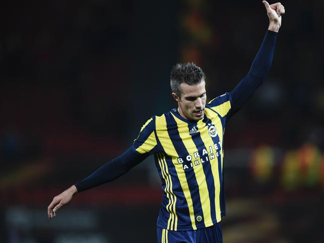 Fenerbahce's Dutch forward Robin van Persie.