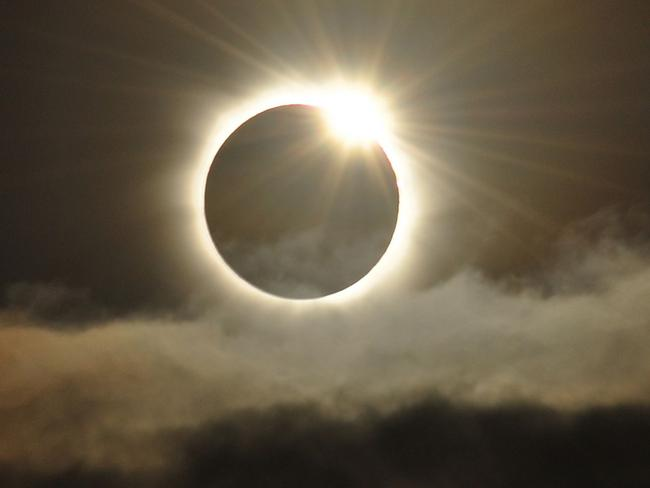 Pretty ... While the likelihood of an asteroid destroying Earth is unlikely, there will be a total solar eclipse. Picture: Supplied