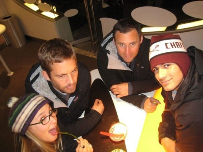 Paul Walker with Jasmine hanging out with friends. Picture: Facebook