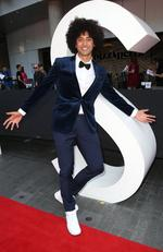 Krit Schmidt pictured arriving on the red carpet at the 2015 ARIA Awards held at The Star in Pyrmont, Sydney. Picture: Richard Dobson