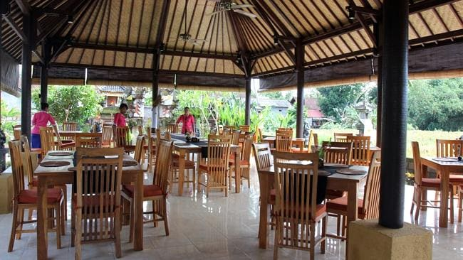 Dewa Malen Restaurant in Ubud where Noelene Gaye Bischoff and her daughter Yvana Jean Yuri Bischoff had their lunch on Friday.