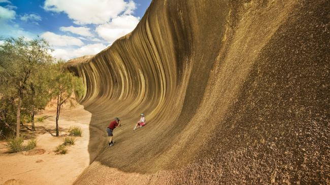 Grab a few days to go on a road trip to Wave Rock in WA. Picture: Tourism WA
