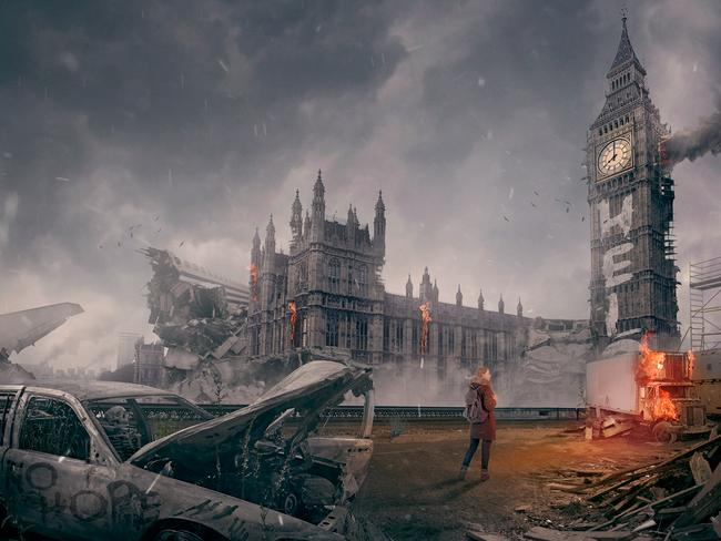 London burns under a zombie dawn. Photo: DesignCrowd.com.au