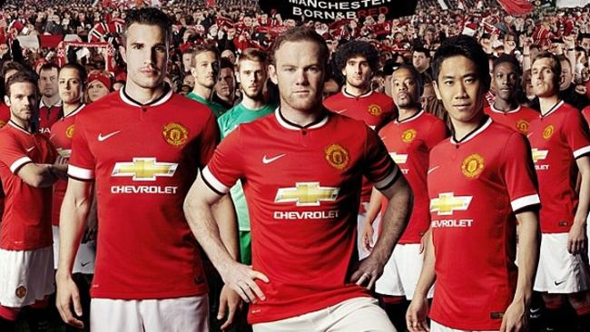 It's hard to miss the Chevrolet logo in United's home kit in the last season before Adidas takes over from Nike  <b>Away</b> <b></b>
