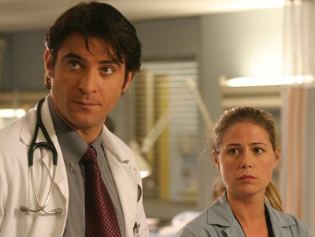 Goran Visnjic as Dr Luka Kovac and Maura Tierney as nurse Abby Lockhart in  <i>ER</i>. Picture: Supplied