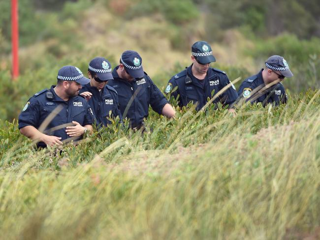 The search for evidence continues. AFP PHOTO/William West