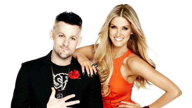 Joel Madden and Delta Goodrem star on The Voice. Picture: Channel 9
