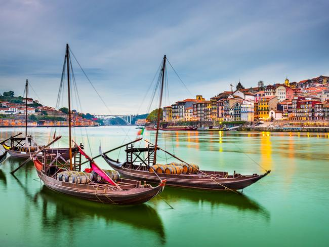 Porto, Portugal old town cityscape on the Douro River with traditional Rabelo boats. Picture: iStock Port report, Porto, Celeste Mitchell, Escape