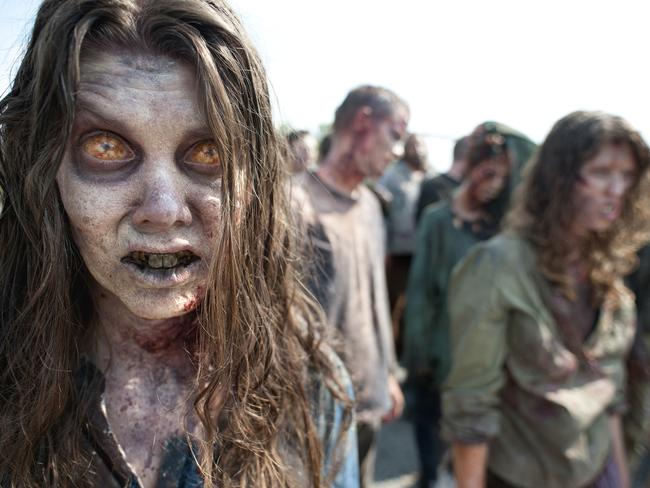 """Soul destroying ... Zombies — such as these from AMC's """"The Walking Dead,"""" are not just harmless fun, the Vatican's exorcists say. Source: AMC"""