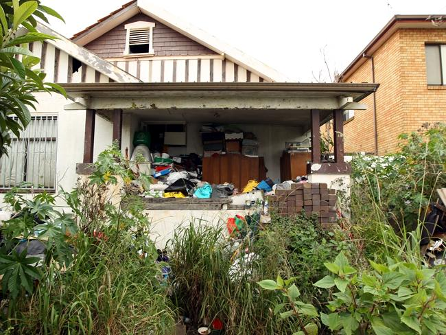 It is not just rubbish that is left to pile up but weeds are left to take over the garden as well.