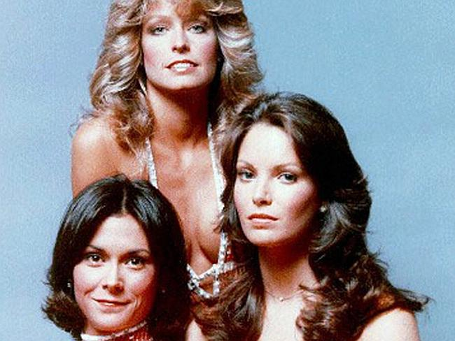 """Actors (L-R) Kate Jackson, Farrah Fawcett and Jaclyn Smith in """"Charlie's Angels""""."""