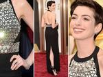 DETAILS: Anne Hathaway on the red carpet at the Oscars 2014. Picture: Getty