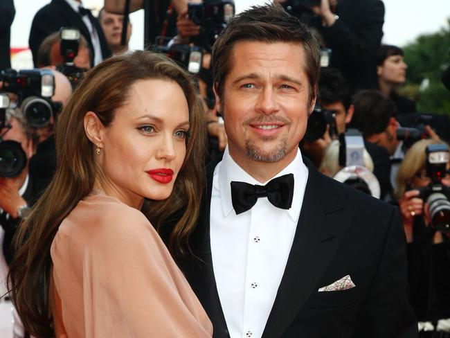 Brad Pitt and Angelina Jolie at Cannes Film Festival in 2009.