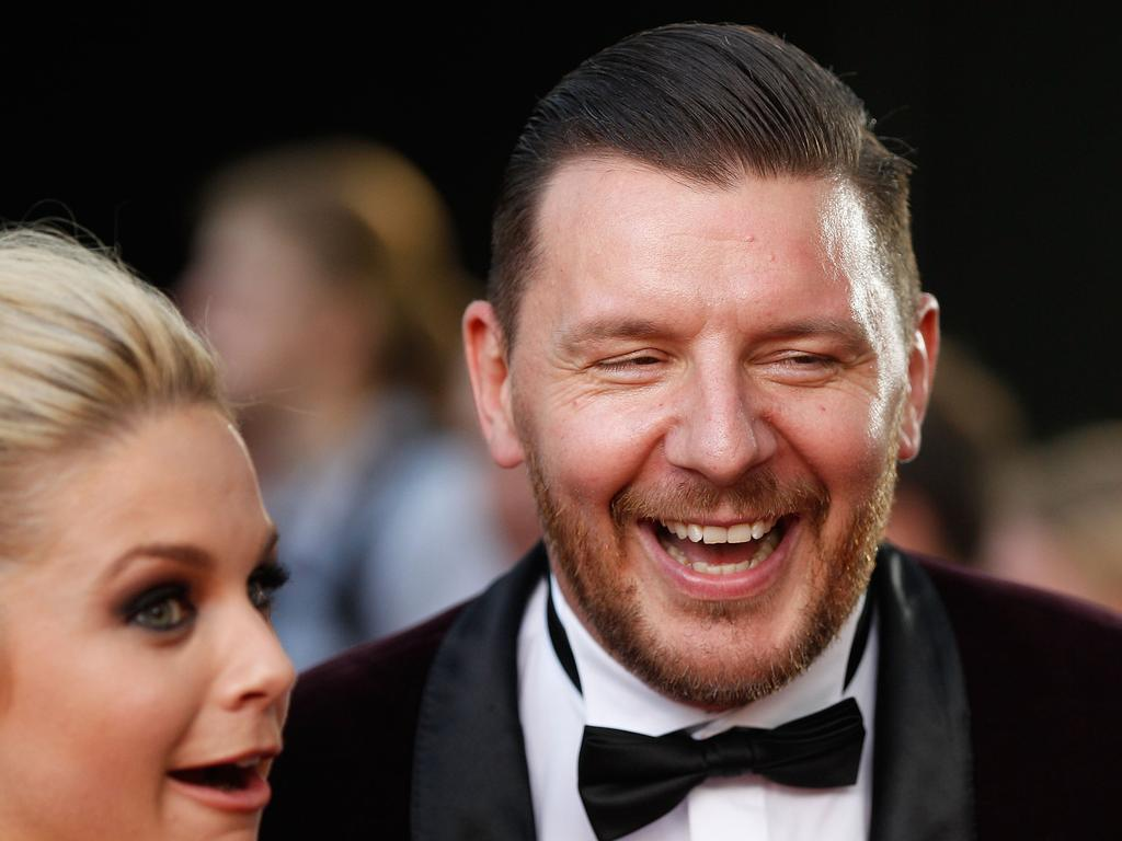 Manu Feildel arrives ahead of the 5th AACTA Awards Presented by Presto at The Star on December 9, 2015 in Sydney, Australia. Picture: Getty
