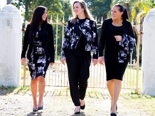 Rookwood Cemetery staff model their uniforms, which are from celebrity fashion label Kardashian Kollection.