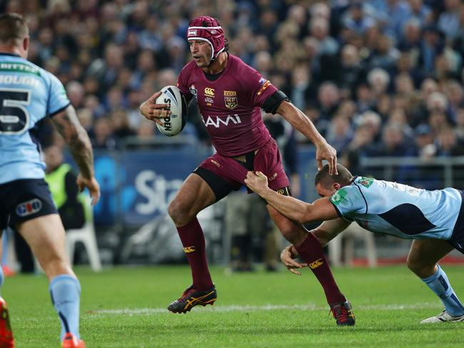Johnathan Thurston in action for Queensland vs New South Wales for game two of the 2014 State of Origin series.