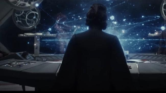 A dignified shot from behind is all we get to see of Carrie Fisher in the Star Wars teaser trailer.