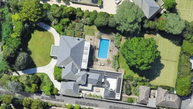 The 5000sq m property at 18 St Georges Rd, Toorak, set a record residential price for Victoria this year.