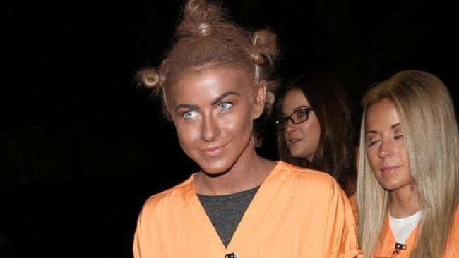 Julianne Hough had perhaps the most controversial costume in the US, dressing up in blackface to go as 'Crazy Eyes' from Orange is the New Black.