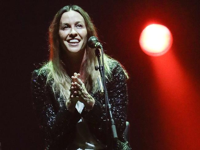 Alanis Morissette performs at Palais Theatre. Pic: Sam Tabone/WireImage