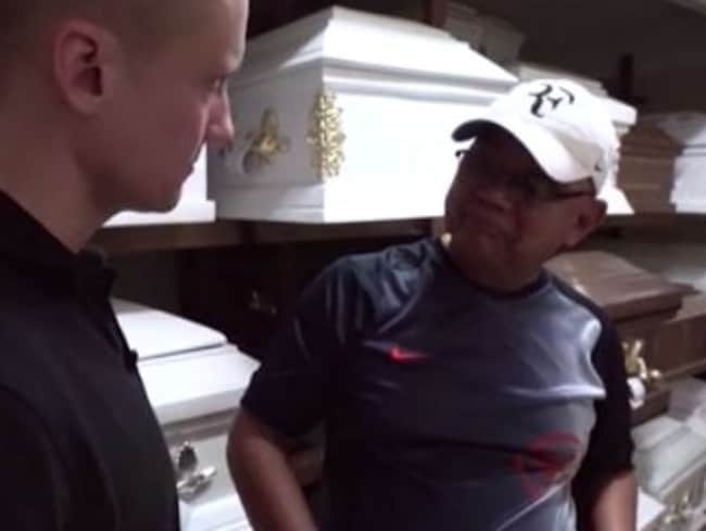 CNN's Will Ripley speaks with a funeral home manager in Manila who reveals the name given to unclaimed bodies. Picture: Screngrab/CNN