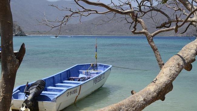 A moment of tranquillity in Playa Cristal, Parque Tayrona. Picture: Sarah Duncan