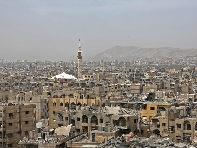 A general view of Douma on the outskirts of Damascus. Picture: AFP
