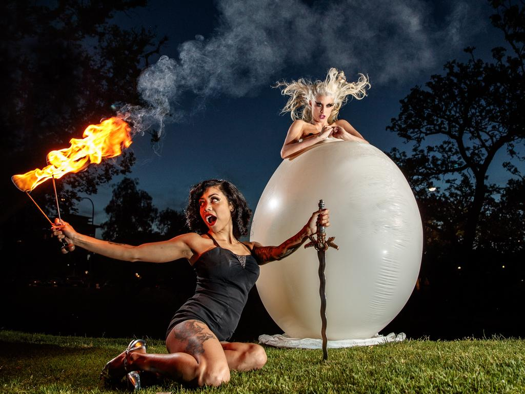 "Blanc burlesque performer Jaimi Luhrmann says ""after midnight things start getting out of hand"" Picure: Matt Turner"