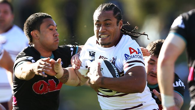The Knights will have to contain Steve Matai if they are to prevail at Brookvale. Picture: Phil Hillyard