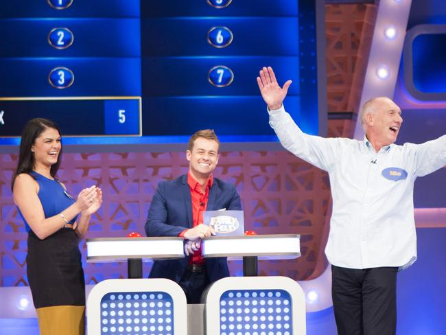 Grant Denyer during Monday night's premiere of Family Feud.