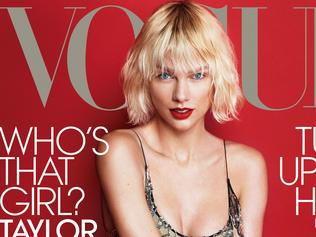 Taylor Swift for US Vogue's May issue. Picture: Mert Alas and Marcus Piggott/VOGUE