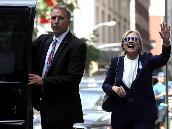"Hillary Clinton admits she ""has a hard time watching the news"". Picture: Justin Sullivan/Getty Images/AFP"