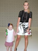 Roxy Jacenko and daughter Pixie Rose Curtis attend the Maticevski show at Mercedes-Benz Fashion Week Australia 2015 at Bay 25 Carriageworks on April 14, 2015 in Sydney, Australia. Picture: Getty