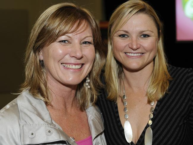 Jacquelin Magnay, pictured left with former sprinter Melinda Gainsford, fought to get women access to players. Picture: Simon Chillingworth
