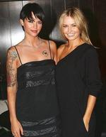 <p>Vodafone store opening at Crown in Melbourne. Ruby Rose and Lara Bingle</p>
