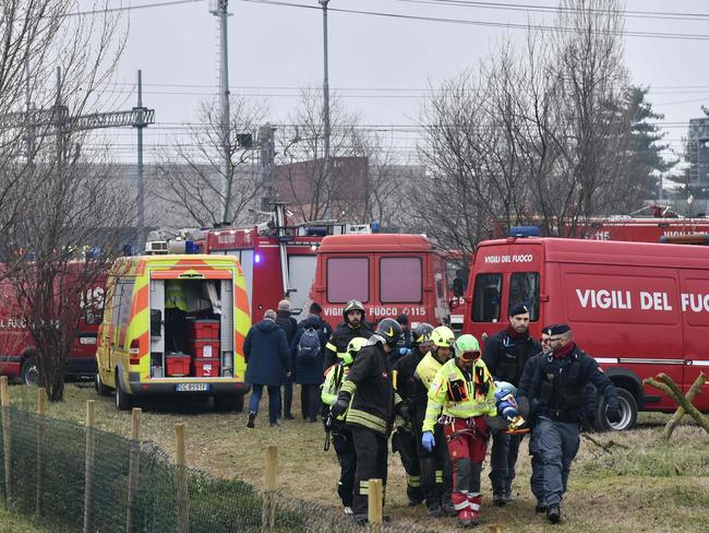More than 100 people were injured in the crash. Picture: AFP/Piero Cruciatti