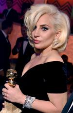 Lady Gaga at the Fox Golden Globes after party. Picture:Splash News Australia