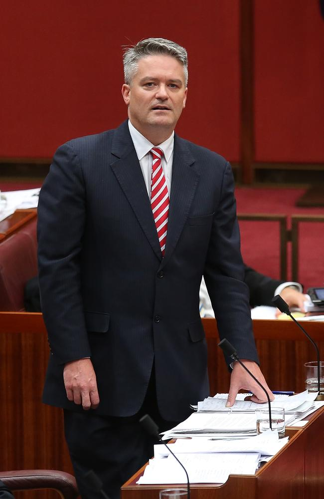 A slightly weary-looking Mathias Cormann.